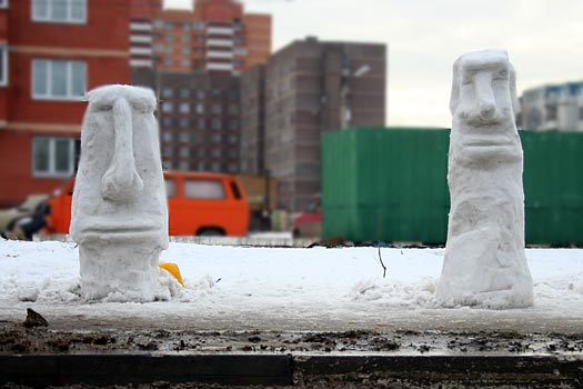 Масленичные снеговички
