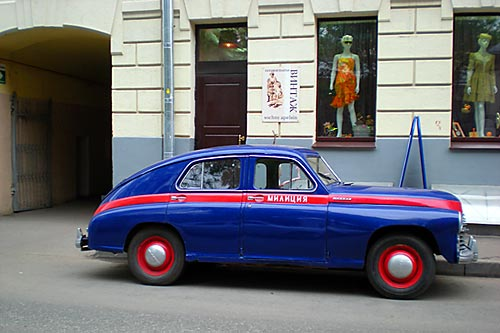 ГАЗ-М 20 Победа на московской улице, май 2009 года