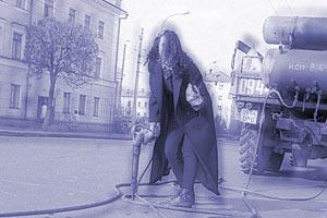Модельная фотосессия на улицах Орла. Мадия. 1989 год.