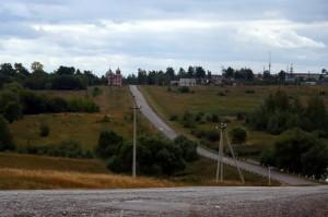 Вид города Малоархангельска со стороны дороги на Каменку