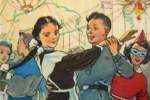 Новогодняя открытка. 1949 год