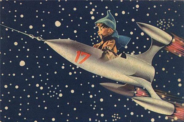Реклама космоса в советских открытках.