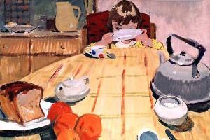 """В. Назина. """"Завтрак"""". 1961 год"""
