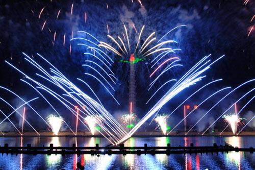 Фейерверк в Пхеньяне по поводу празднования дня рождения Ким Ир Сена