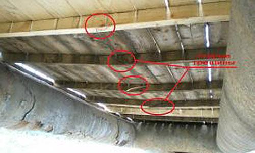 Подробное фото сломавшегося элемента моста