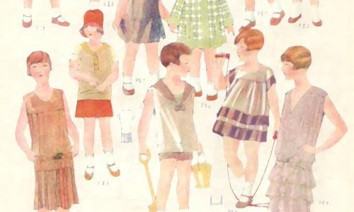 Иллюстрации моды в советских журналах периода НЭП.