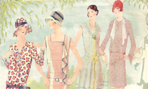 Реклама модной одежды в советских журналах периода НЭП