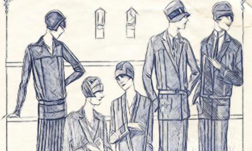 Реклама модной одежды в советских журналах периода НЭП.