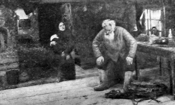 Жительница села на приеме у знахаря.