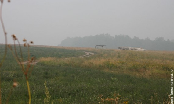 Дым лесных пожаров 2010 года. Пущино, Московская область.