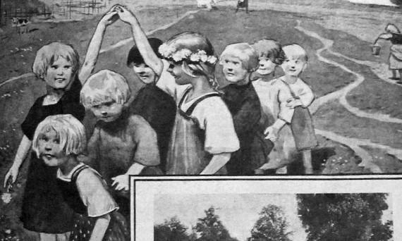 Реклама летних детских яслей в советской деревне в СМИ. 1926 год.