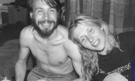 Студенты в неформальной обстановке. Орел, 1991 год.