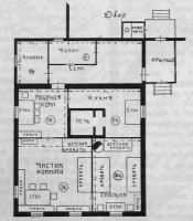 Примерный план крестьянской избы. 1926 год.