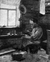 Деревенский кустарный мастер по производству и ремонту обуви. 1927 год.