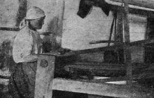 Деревенская ткачиха. 1927 год.
