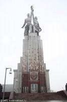 Памятник «Рабочий и Колхозница» после реставрации. Москва. 2011 год.