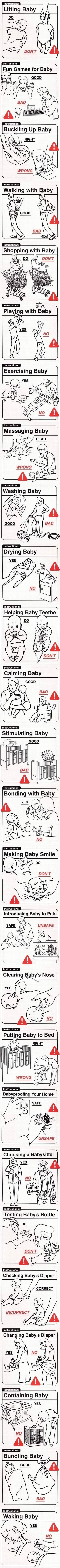 Уход за детьми: инструкция.